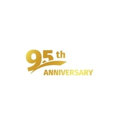 Isolated abstract golden 95th anniversary logo on vector image vector image