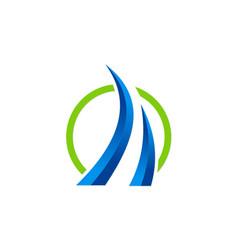 loop 3d business finance logo vector image vector image