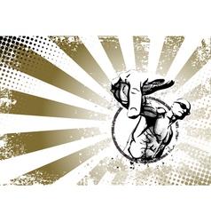 rapper poster vector image vector image