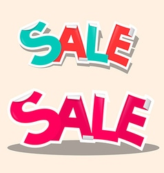 Sale titles - retro stickers vector
