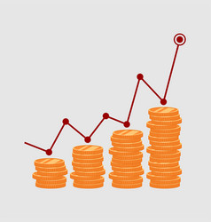 the growth of money vector image