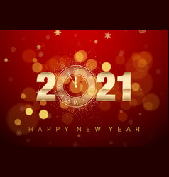 2021 new year poster with greeting text golden vector image