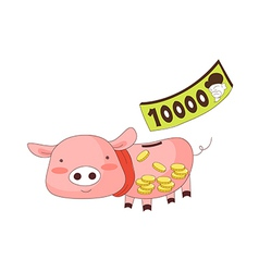 A piggy money box vector