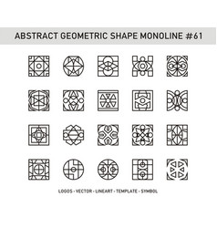 Abstract geometric shape monoline 61 vector