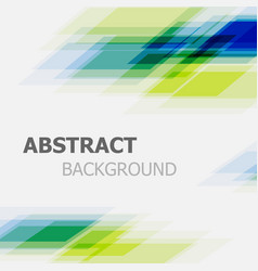 Abstract green and blue business straight line vector