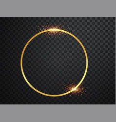 Abstract magical glowing golden bannermagic vector