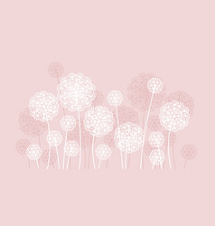 abstract pale color summer dandelion motif vector image