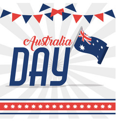 Australia day design vector