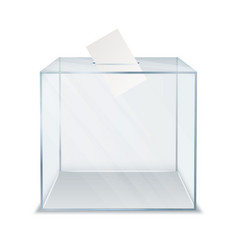 Ballot box square container for paper vector