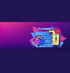 big data applications header banner vector image