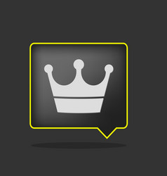 black crown icon vector image