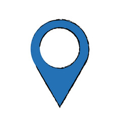 Blue pointer map navigation gps vector