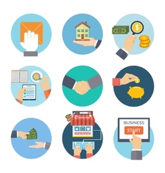 business concept icons vector image