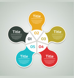 business concept with five options vector image