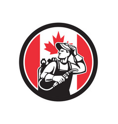 canadian welder canada flag icon vector image