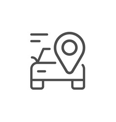 car location line outline icon vector image