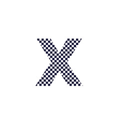 Checker pattern logo letter x vector