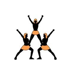 cheerleading-team vector image