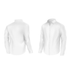 classic white shirt with long sleeve vector image
