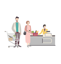 concept for supermarket or shop with vector image