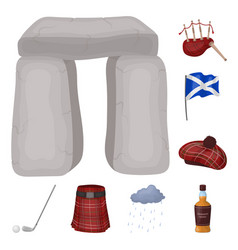 country scotland cartoon icons in set collection vector image