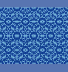 Creative patterned textile texture indigo dyed vector