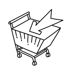e-commerce icon doodle hand drawn or outline icon vector image