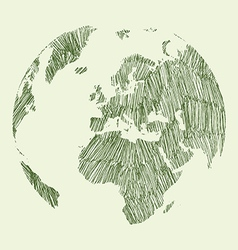 Earth draw vector image
