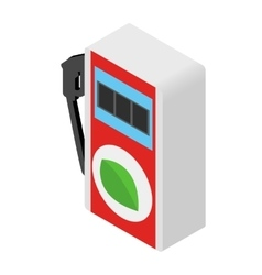 Eco gas station vector image