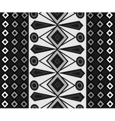 Ethnic Abstract black white pattern background vector