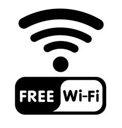 free wifi icon white background image vector image
