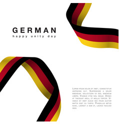 Germany happy unity day october 3 celebrate banner vector