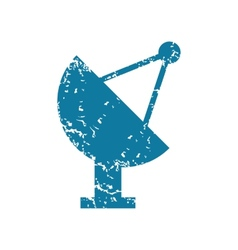 Grunge satellite dish icon vector