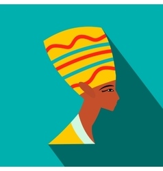 Head of Nefertiti icon flat style vector