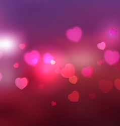 heart and bokeh abstract background vector image