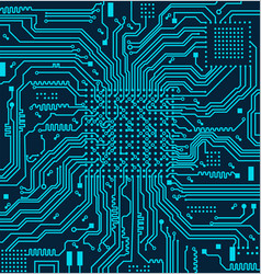 High tech electronic circuit board vector