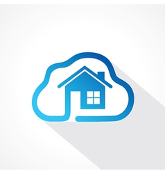 home icon in cloud shape design concept vector image vector image