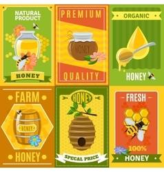 Honey Poster Set vector image