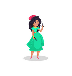 indian girl model cartoon character vector image