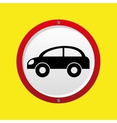 Insurance car protection icon vector