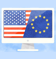 International business america and european union vector