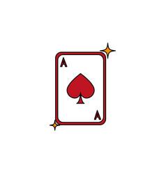 isolated casino card fill design vector image