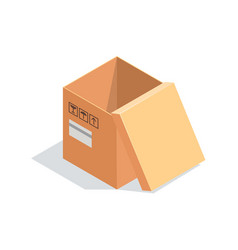 isometric box isolated on white background vector image