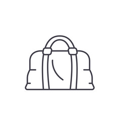 leather bag line icon concept leather bag vector image