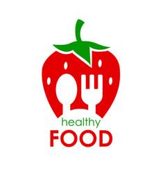logo healthy food of vector image