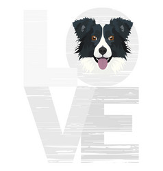 Love border collie vector