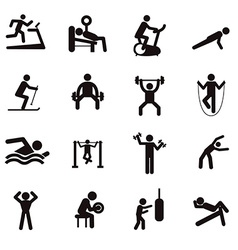 Man people athletic gym gymnasium body building vector