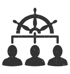 Management Rule Wheel Icon Rubber Stamp vector