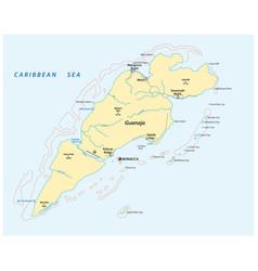 Map honduran caribbean island guanaja vector