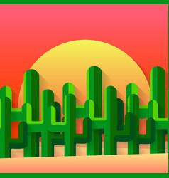 Mexican desert flat vector